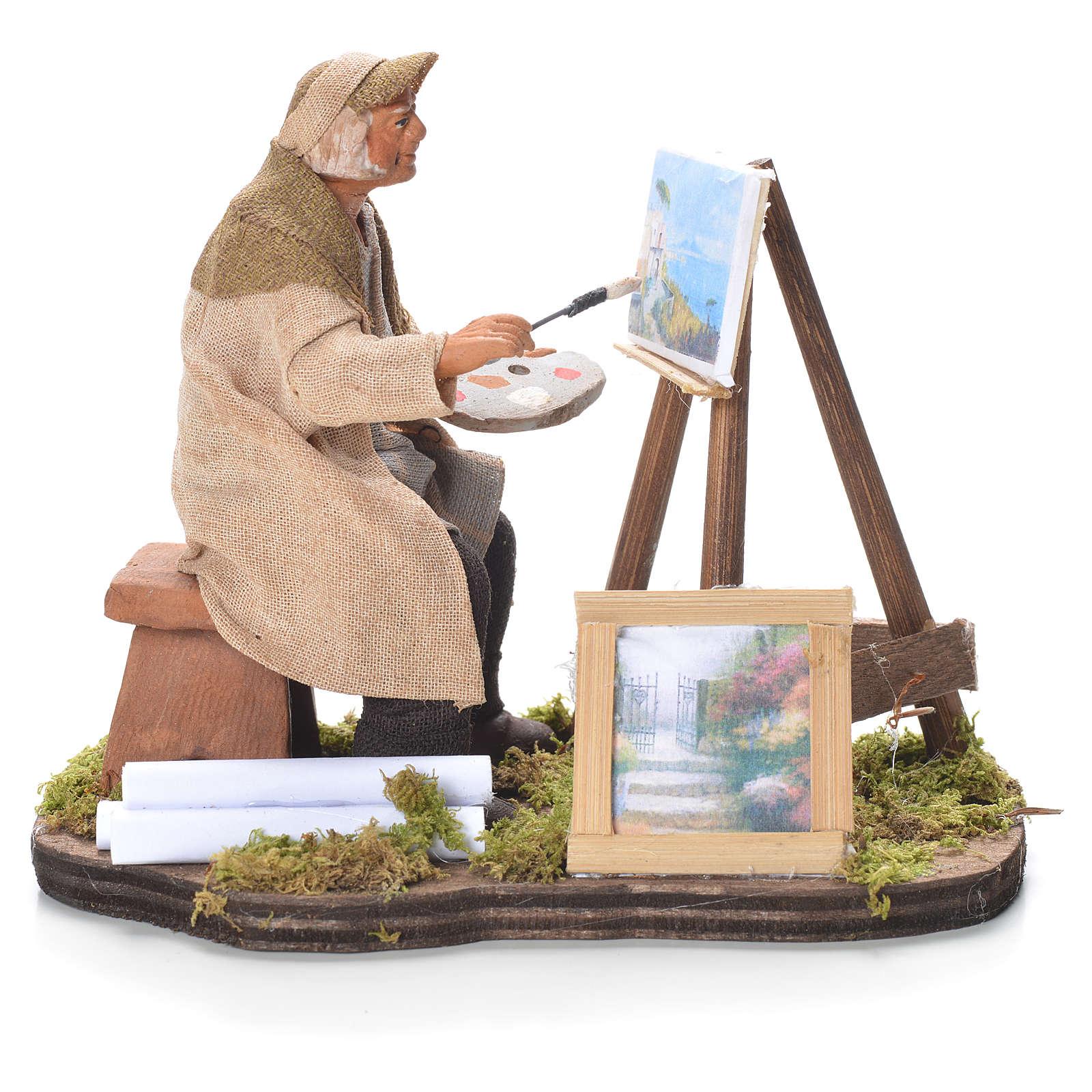 Pintor con tripode 12 cm belén napolitano 4
