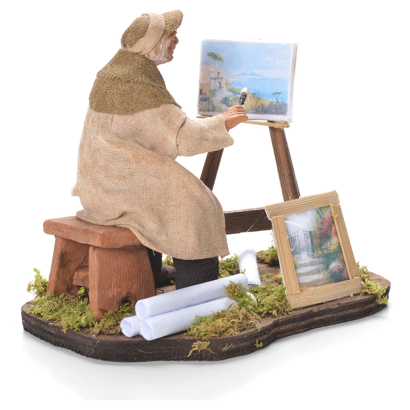 Painter with easel, Neapolitan Nativity 12cm 4