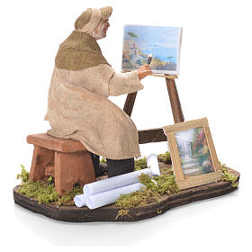 Painter with easel, Neapolitan Nativity 12cm s4