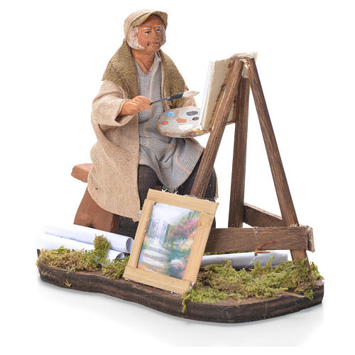 Painter with easel, Neapolitan Nativity 12cm 2