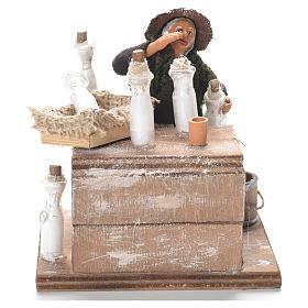 Neapolitan Nativity Scene: Milk woman with stall, Neapolitan Nativity 12cm