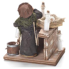 Milk woman with stall, Neapolitan Nativity 12cm s3