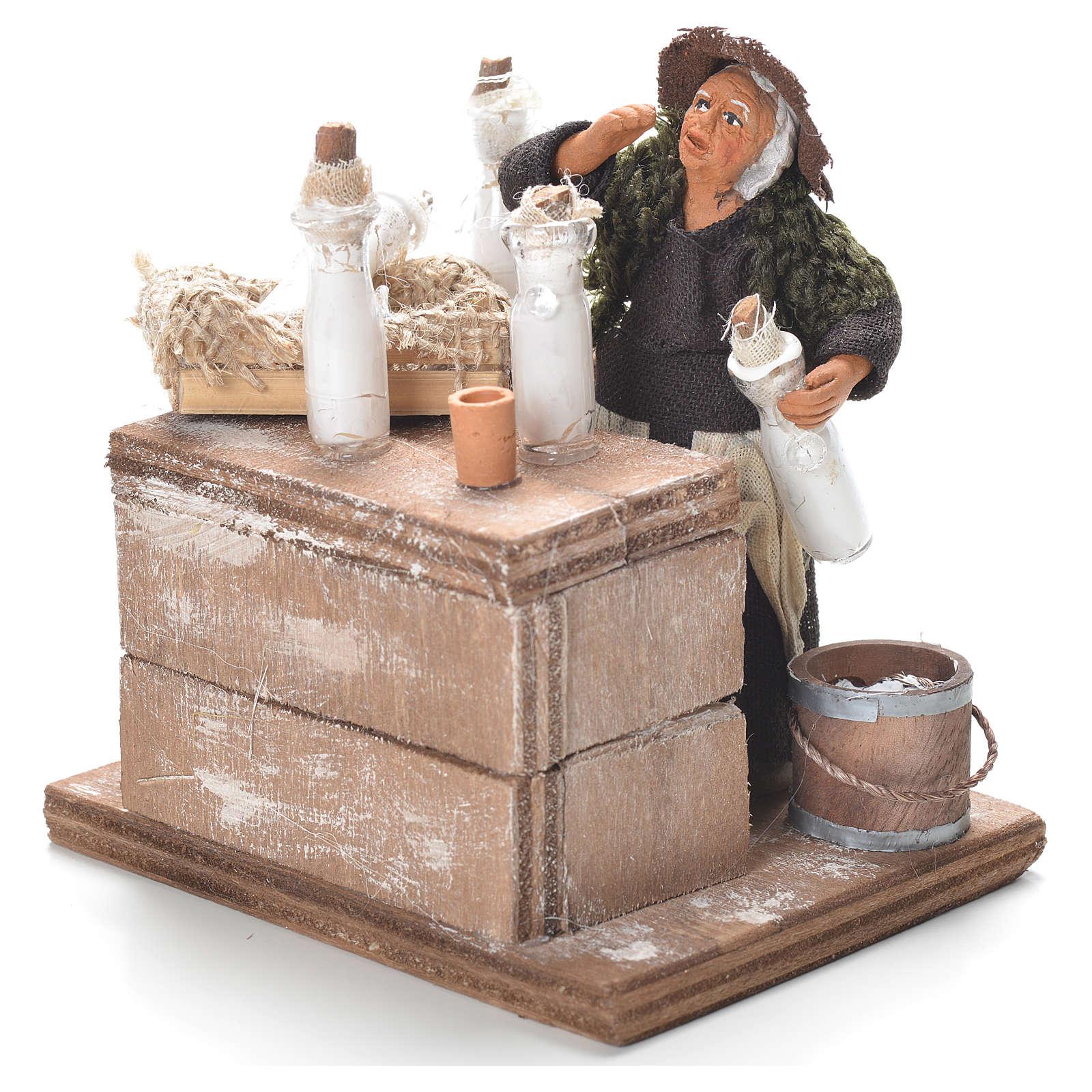 Milk woman with stall, Neapolitan Nativity 12cm 4