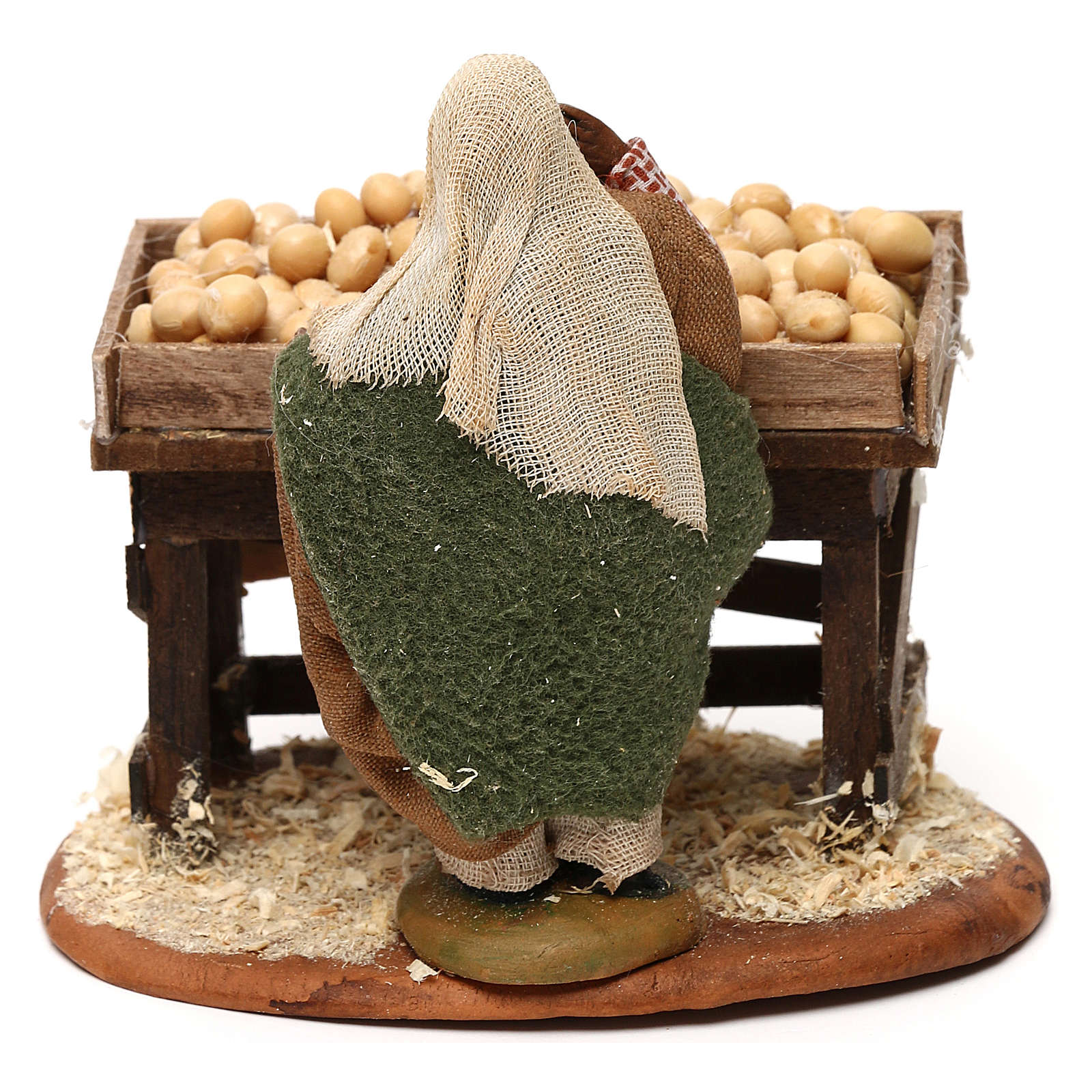 Egg seller with stall, Neapolitan Nativity 10cm 4