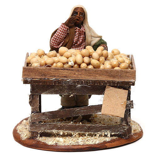 Egg seller with stall, Neapolitan Nativity 10cm 1