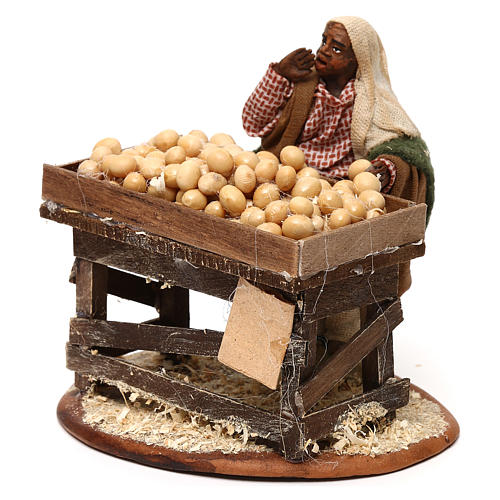 Egg seller with stall, Neapolitan Nativity 10cm 2