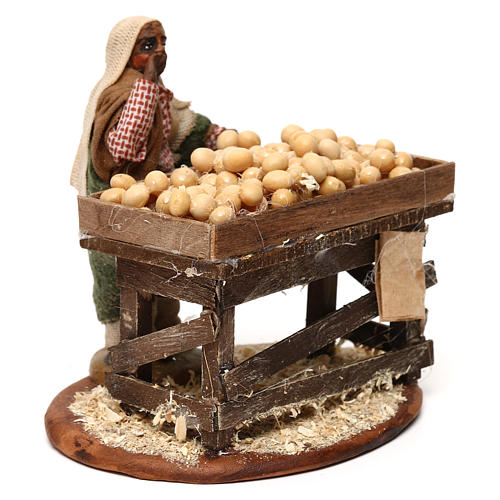 Egg seller with stall, Neapolitan Nativity 10cm 3