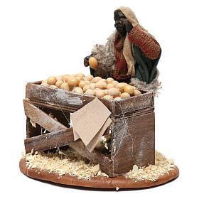 Venditore con banco di uova 10 cm presepe Napoli s2
