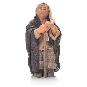 Vieil homme avec canne 10 cm crèche napolitaine s1