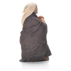 Vieil homme avec canne 10 cm crèche napolitaine s2