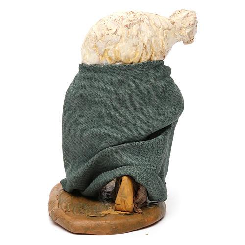 Uomo ginocchio pecora spalle 10 cm presepe Napoli 4