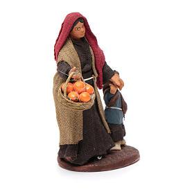 Mujer con niño de la mano 10 cm Belén de Nápoles s3