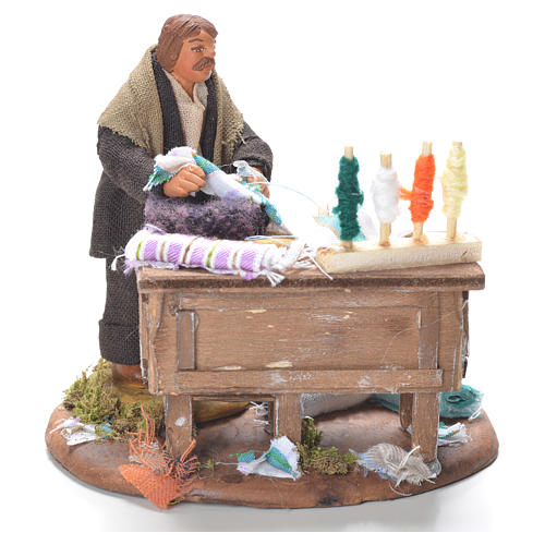 Tailor with stall, Neapolitan Nativity 10cm 1