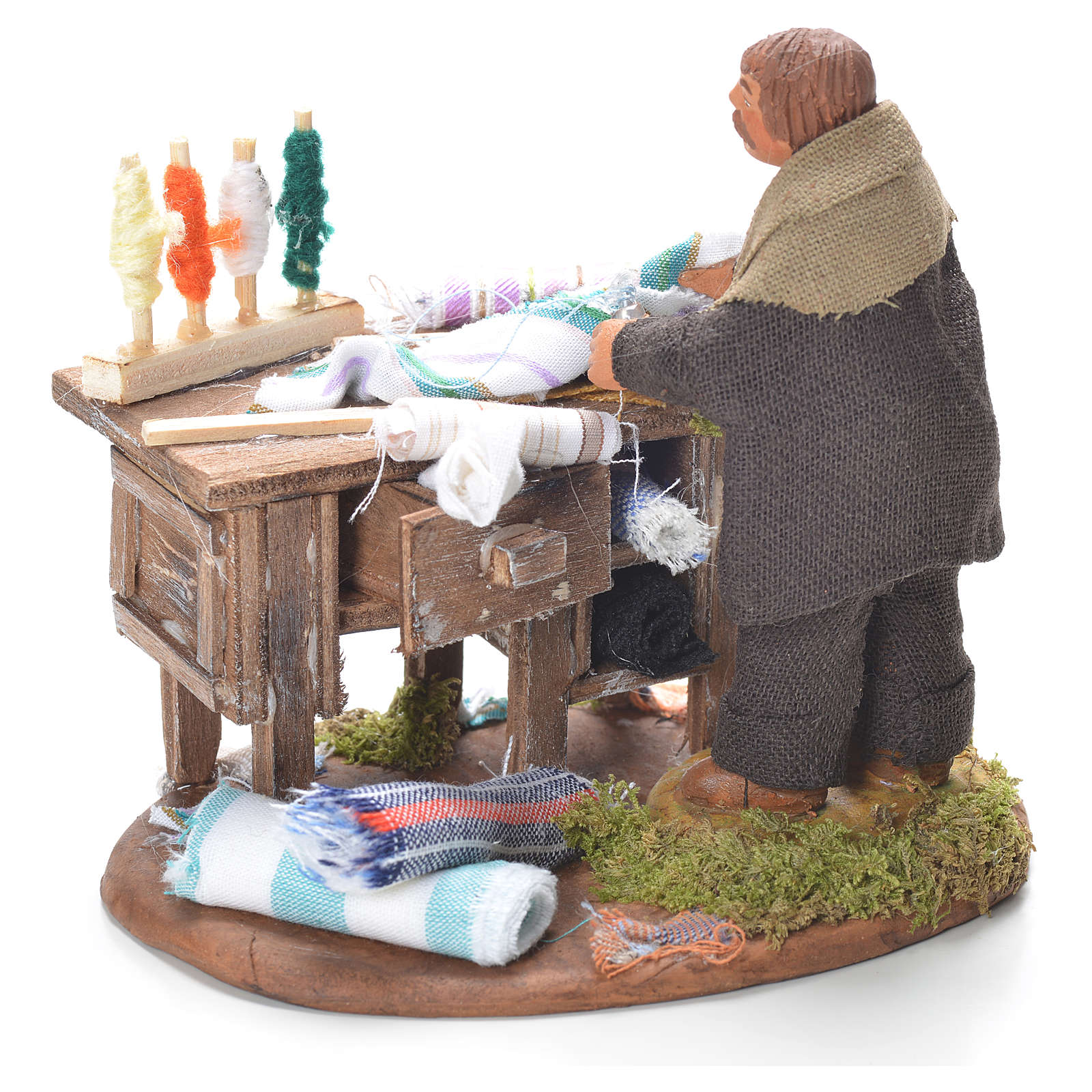 Tailor with stall, Neapolitan Nativity 10cm 4