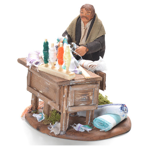 Tailor with stall, Neapolitan Nativity 10cm 2