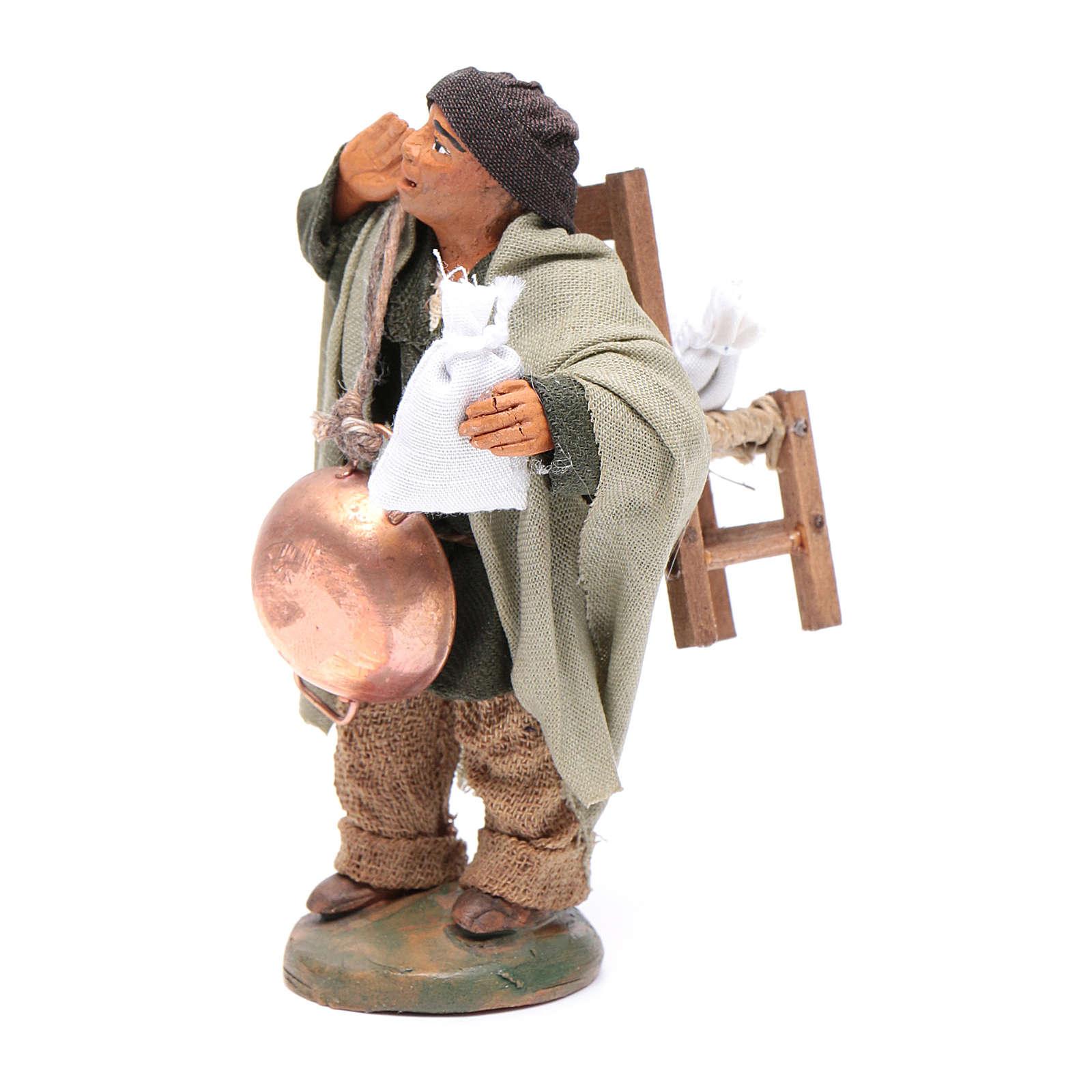 Homme expulsé avec chaise 10 cm crèche napolitaine 4