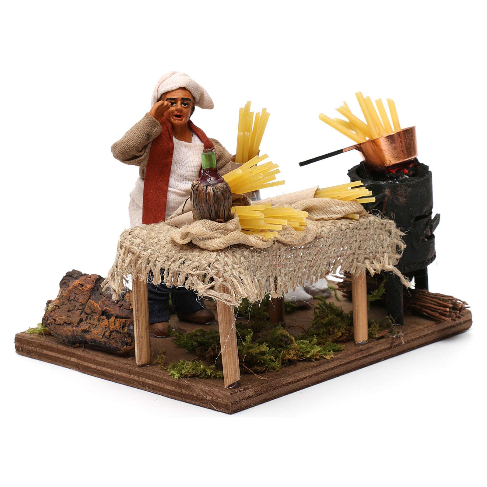 Pasta seller, Neapolitan Nativity 10cm 4