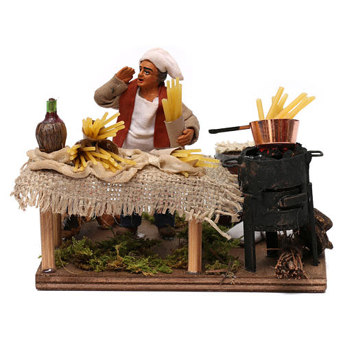 Pasta seller, Neapolitan Nativity 10cm 1