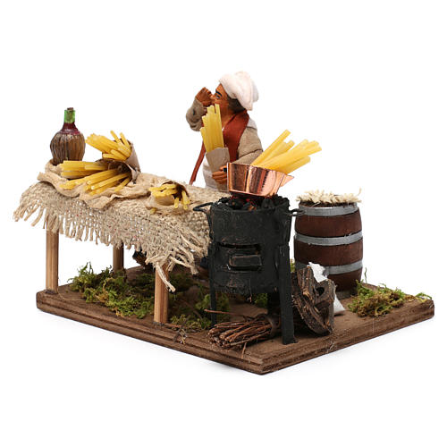 Pasta seller, Neapolitan Nativity 10cm 2