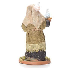 Lady with doves, Neapolitan Nativity 10cm s2