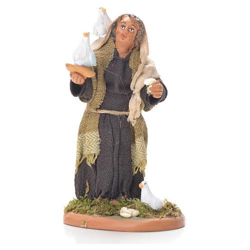 Lady with doves, Neapolitan Nativity 10cm 1