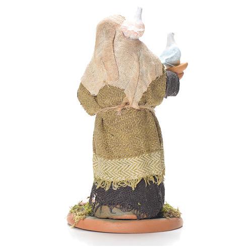 Lady with doves, Neapolitan Nativity 10cm 2