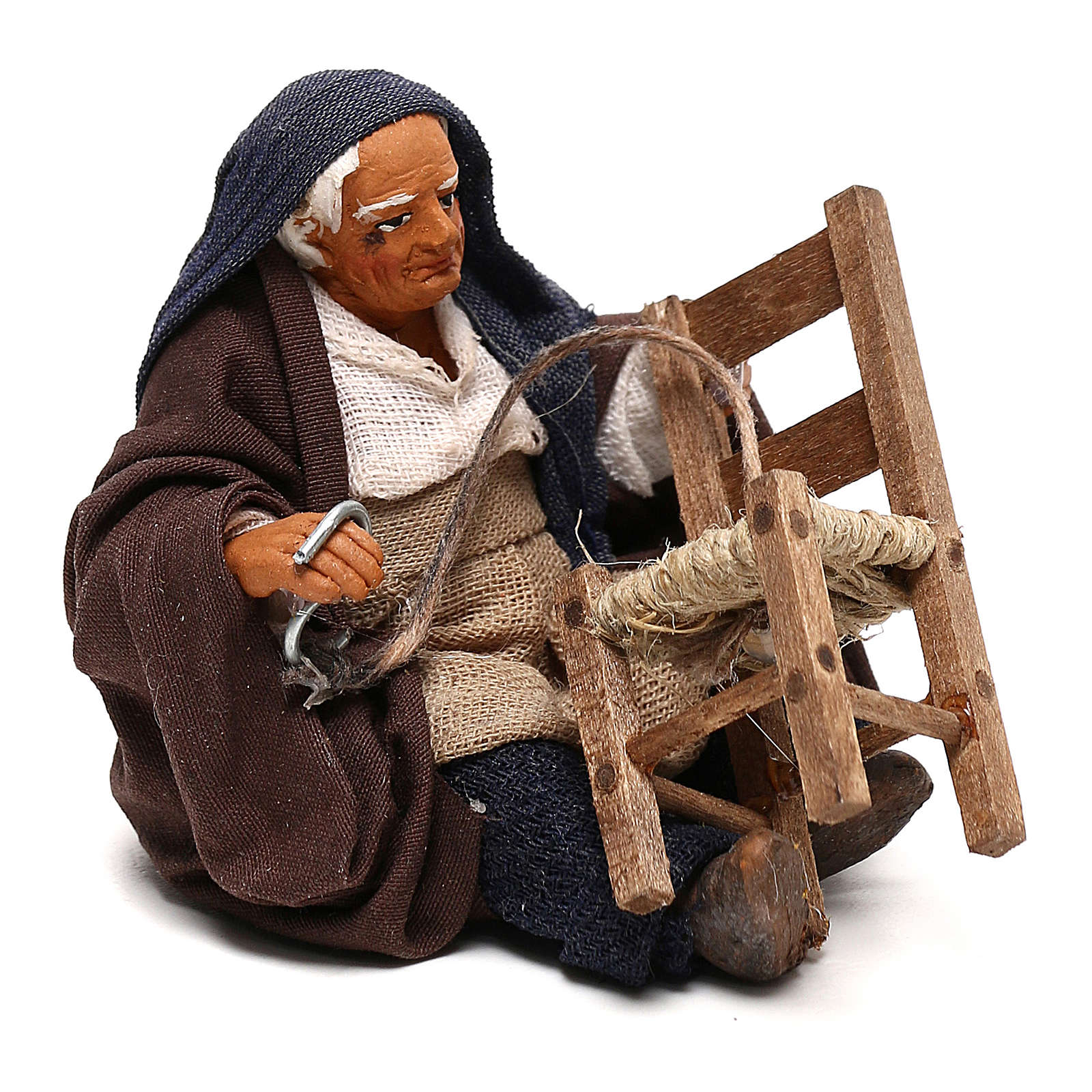 Chair fixer sitting, Neapolitan Nativity 10cm 4