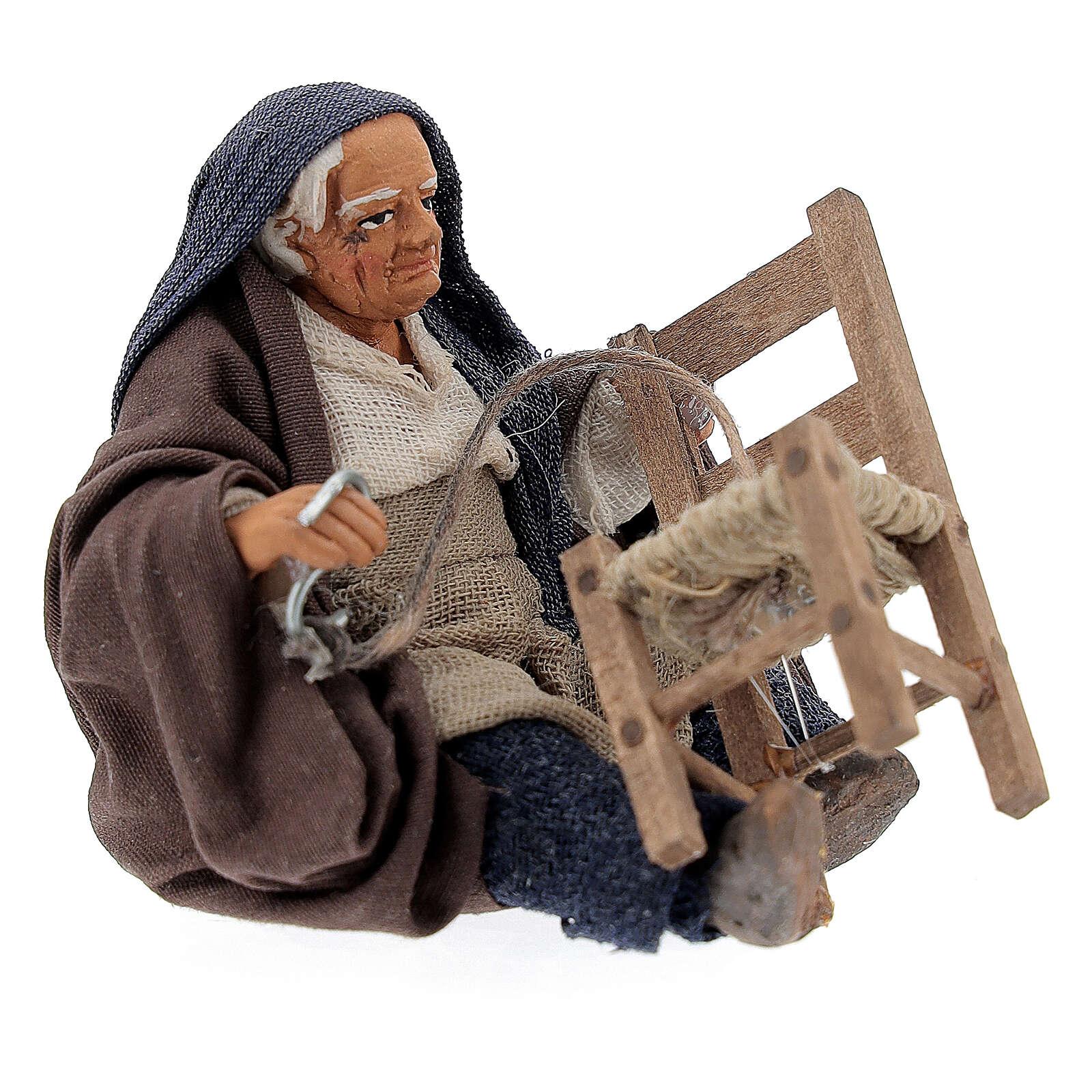 Chair fixer sitting, Neapolitan Nativity 10cm 4