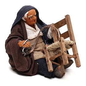 Chair fixer sitting, Neapolitan Nativity 10cm s7