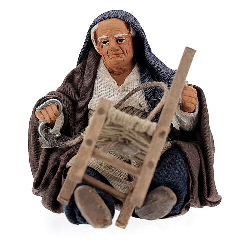 Chair fixer sitting, Neapolitan Nativity 10cm 1