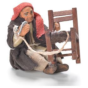 Réparateur chaises assis 10 cm crèche Naples s1