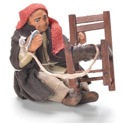 Réparateur chaises assis 10 cm crèche Naples 1
