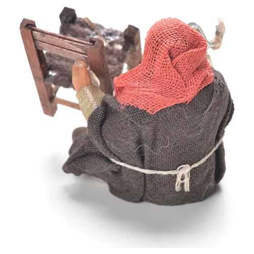 Réparateur chaises assis 10 cm crèche Naples 3