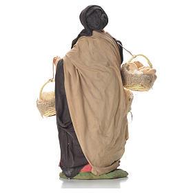 Mulher com cestas de pão 24 cm presépio napolitano s3