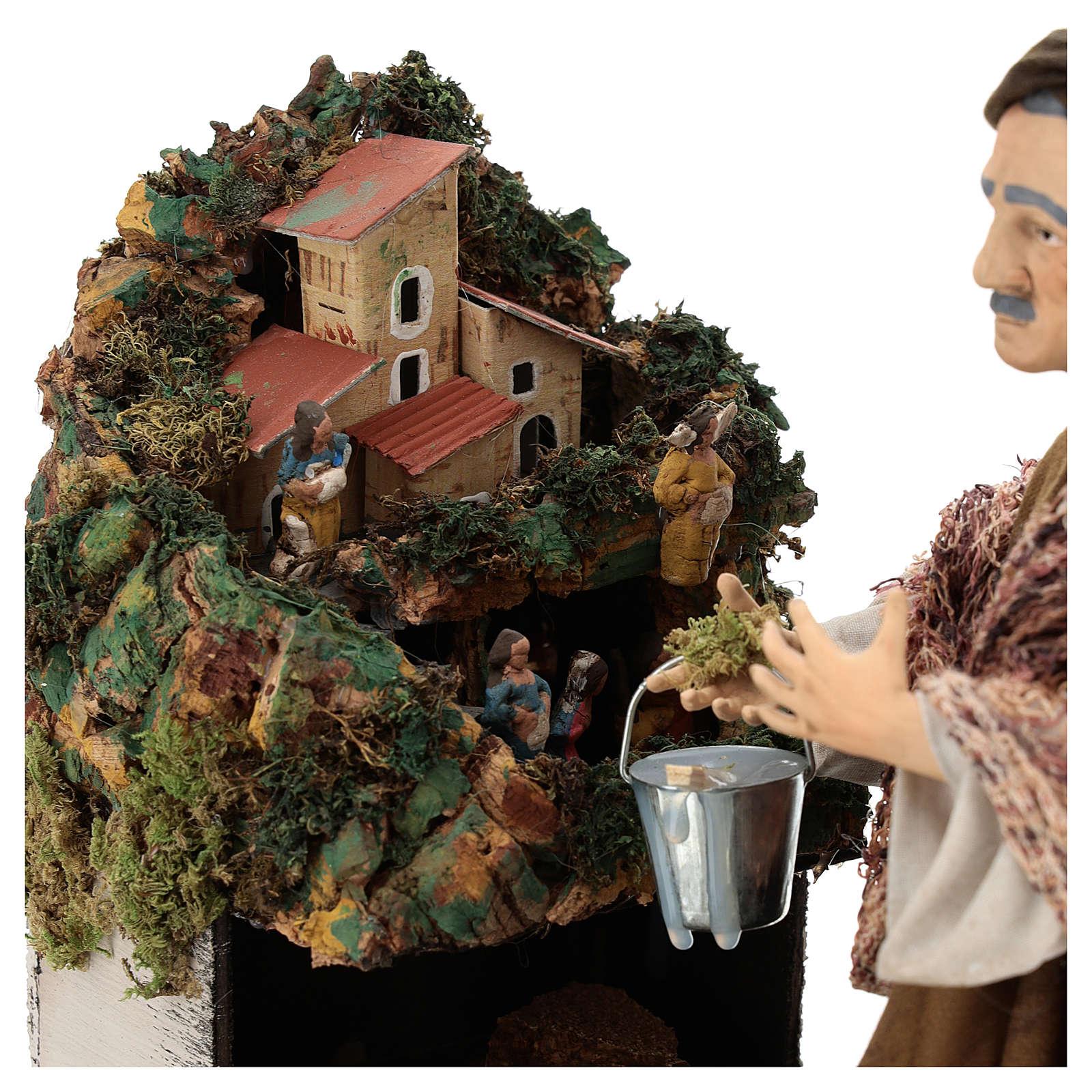 Eduardo costruttore di presepi 30 cm presepe Napoli 4