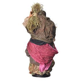 Woman with straw, 30cm Neapolitan Nativity s4