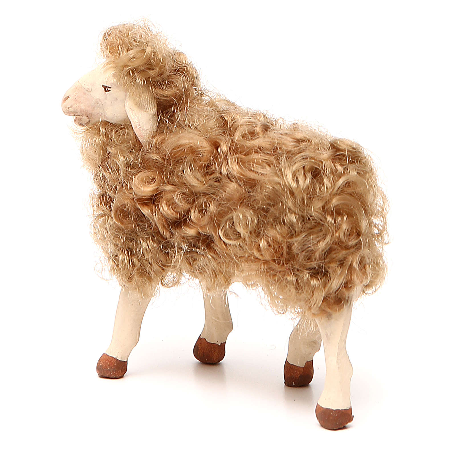 Pecora in piedi con lana 24 cm presepe Napoli 4