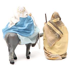 Virgen María embarazada sobre burro y José belén de Nápoles 8 cm s3