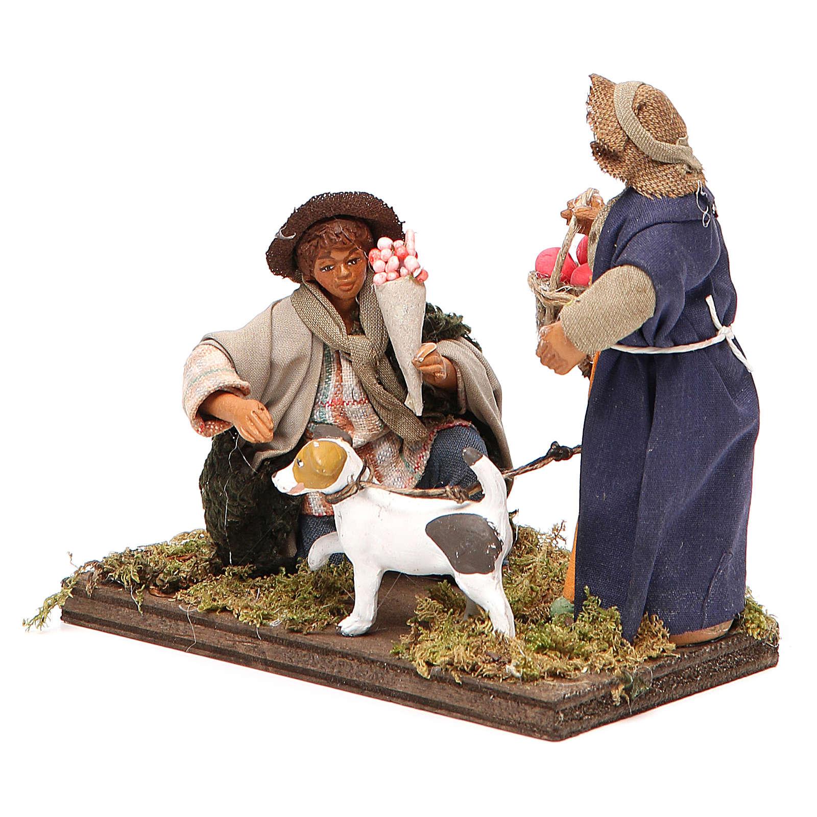 Serenade scene, Neapolitan nativity figurine 10cm 4