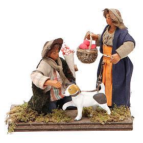 Serenade scene, Neapolitan nativity figurine 10cm s1