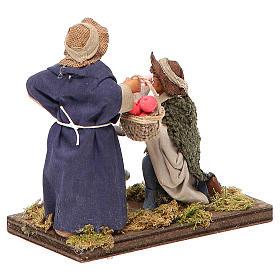Serenade scene, Neapolitan nativity figurine 10cm s3