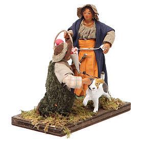 Serenade scene, Neapolitan nativity figurine 10cm s4