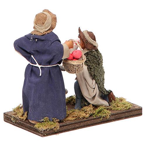 Serenade scene, Neapolitan nativity figurine 10cm 3