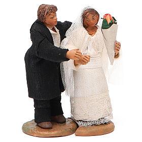 Married couple, Neapolitan nativity figurine 10cm s1