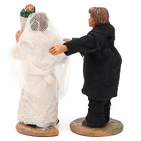 Married couple, Neapolitan nativity figurine 10cm s3