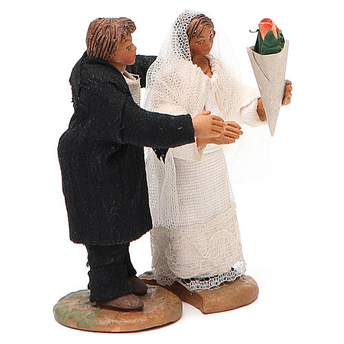 Married couple, Neapolitan nativity figurine 10cm 2
