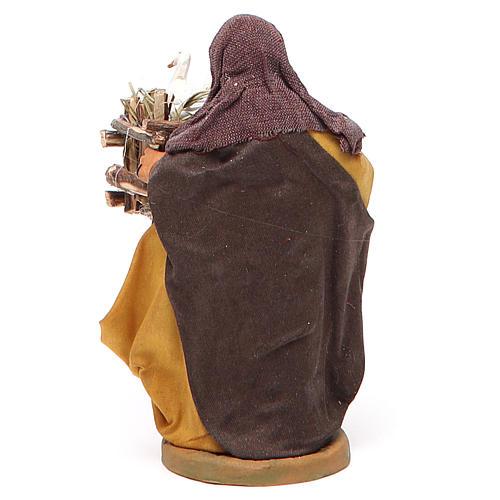Mujer con jaula y dos patos en la mano 10 cm Belén Nápoles 3
