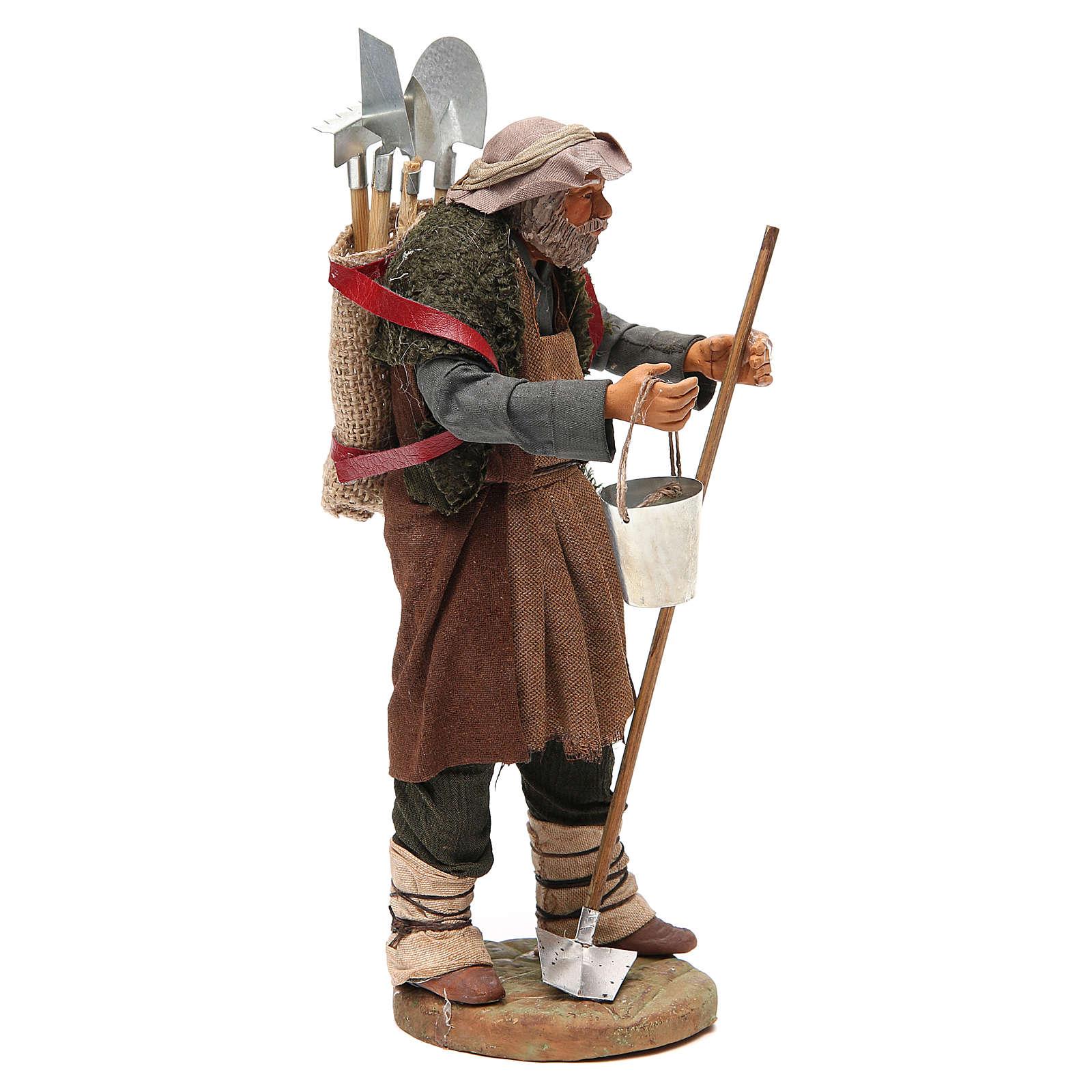 Hombre con herramientas agrícolas 24 cm belén napolitano 4