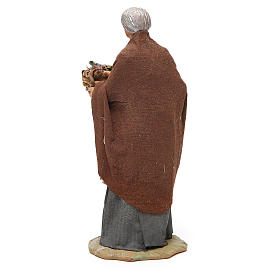 Old lady with fruit basket and straw, Neapolitan nativity figurine 24cm s3