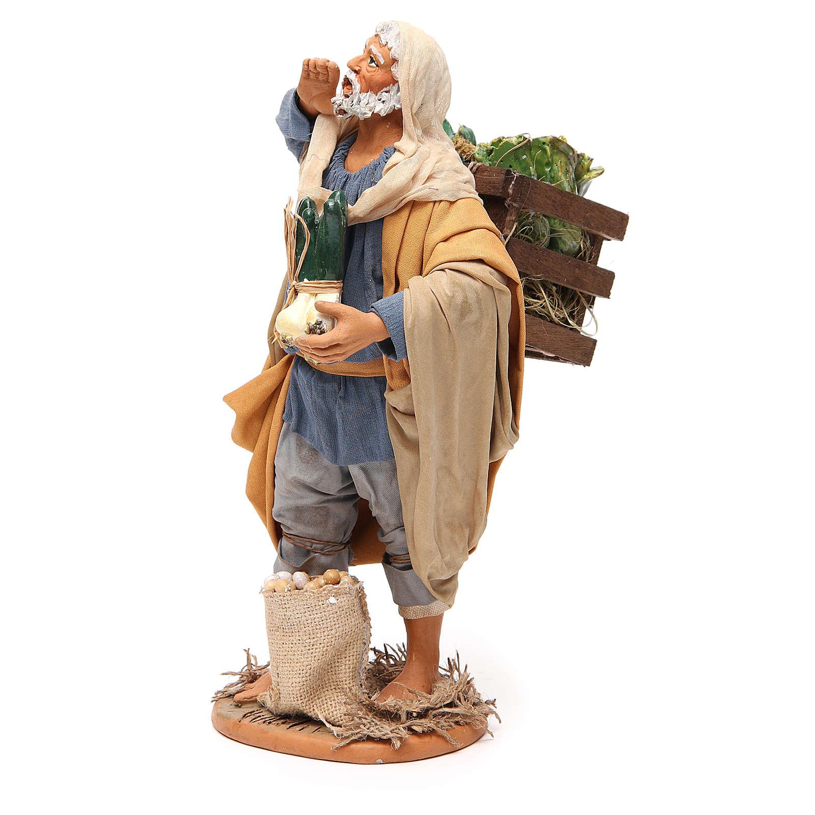 Uomo con verdura 30 cm presepe napoletano 4